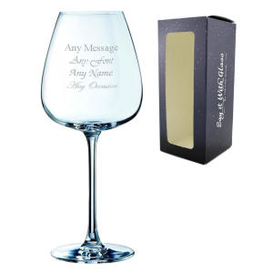 Engraved Grands Cepages Red Wine Glass