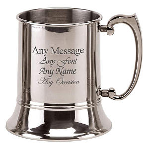 Engraved Stainless Steel Tankard