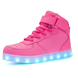 LED Flashing High Top Trainers
