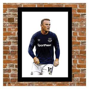 Framed Wayne Rooney Poster