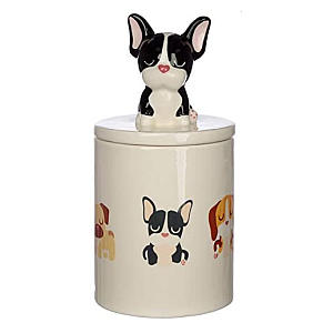 French Bulldog Dog Treat Storage Jar