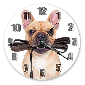 French Bulldog Round Clock
