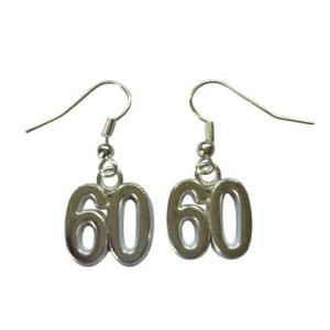 Fun 60th Birthday Earrings