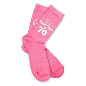 Fun 70th Pink Socks