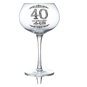 Funny 40th Gin Glass