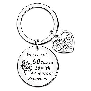 Funny 60th Engraved Keychain