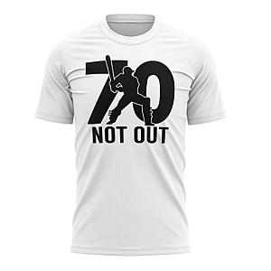 Funny 70 Not Out Cricket T Shirt