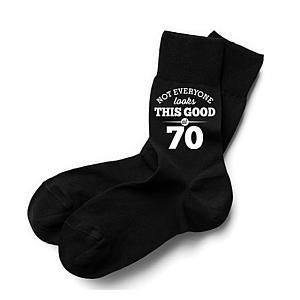 Funny 70th Birthday Socks