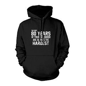 Funny 80 Year Old Hooded Sweatshirt