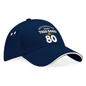 Funny 80th Baseball Cap