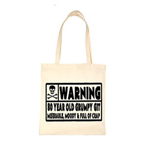 Funny 80th Shopping Bag For Life