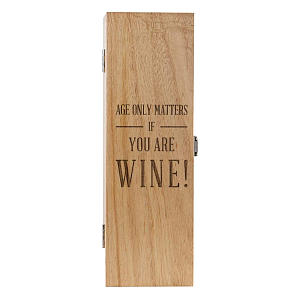 Funny Engraved Wooden Wine Box