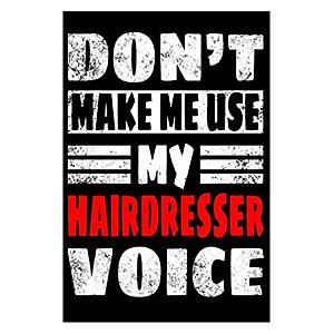 Funny Hairdresser Notebook