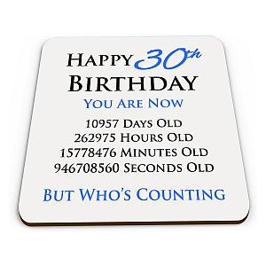 Funny Happy 30th Birthday Coaster