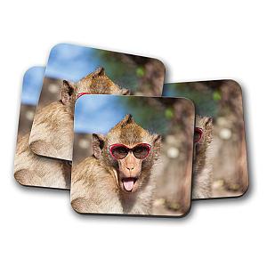 Funny Monkey Coaster Set
