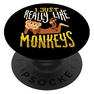 Funny Monkey PopSockets Grip And Stand