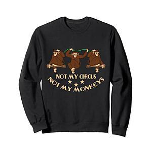 Funny Monkey Print Sweatshirt