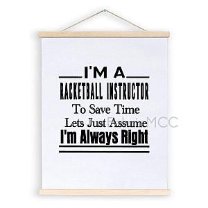 Funny Racketball Instructor Art Poster