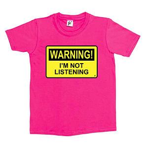 Funny Warning I'm Not Listening T Shirt