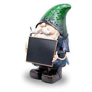 Garden Gnome With Chalkboard