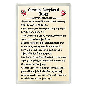 German Shepherd Rules Funny Fridge Magnet