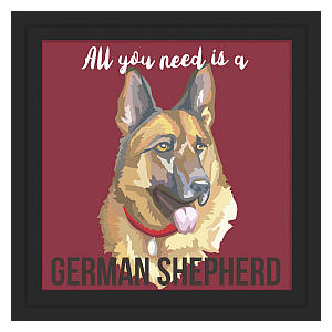German Shepherd Tile Artwork