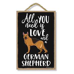 German Shepherd Wooden Decorative Sign
