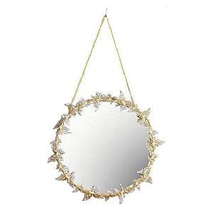 Golden Hanging Butterfly Mirror