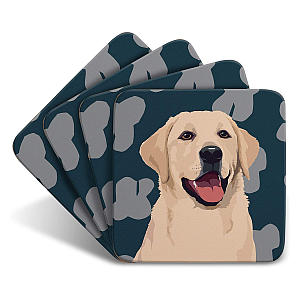 Golden Labrador Set of 4 Coasters