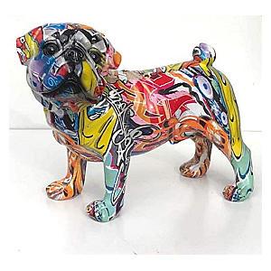 Graffiti Art Pug Ornament Figurine