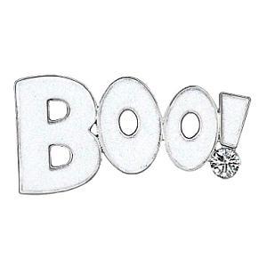 Halloween Rhinestone Boo Brooch