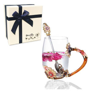 Handmade Daisy Flower Tea Cup