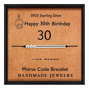 Happy 30th Morse Code Bracelet