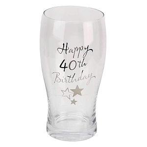 Happy 40th Birthday Pint Glass