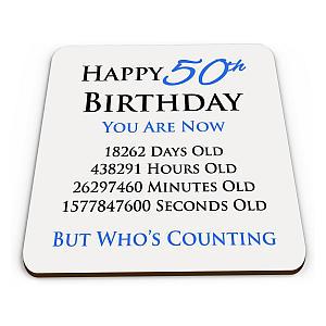 Happy 50th Birthday Coaster