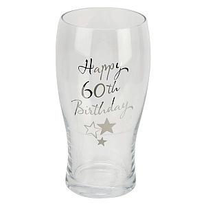 Happy 60th Pint Glass