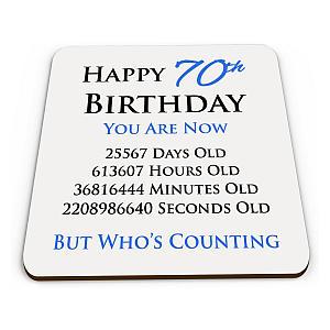 Happy 70th Birthday Drinks Coaster