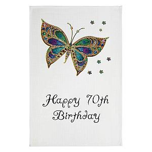 Happy 70th Butterfly Towel