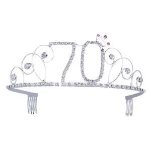 Happy 70th Crystal Rhinestone Crown