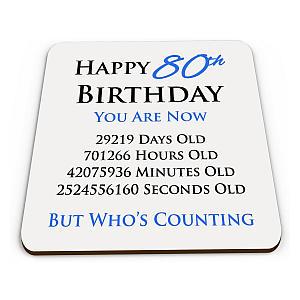 Happy 80th Birthday Coaster