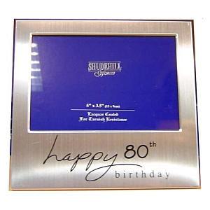 Happy 80th Silver Frame