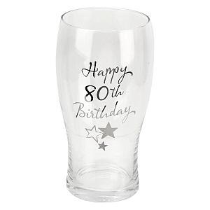 Happy 80th Pint Glass