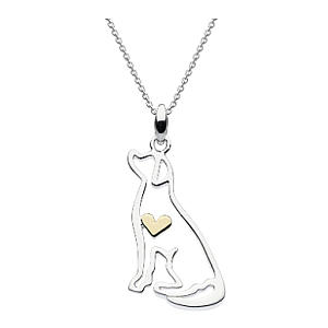 Heart of Gold Labrador Dog Necklace