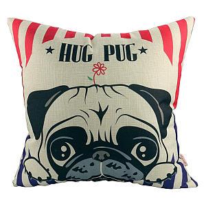 Hug Pug Cushion Cover