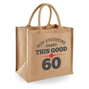 Humorous 60th Tote Bag