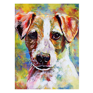 Jack Russell Abstract Art Print