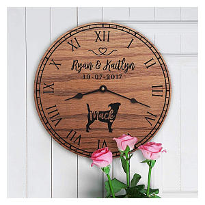 Jack Russell Personalised Clock