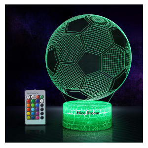LED Multicoloured Football Lamp