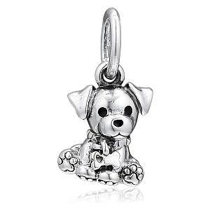 Labrador Puppy Dangle Bead