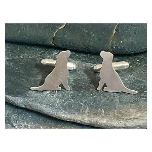 Labrador Sterling Silver Cufflinks